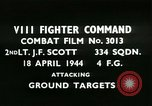 Image of VIII Fighter Command Germany, 1944, second 1 stock footage video 65675021814