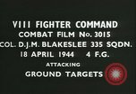 Image of VIII Fighter Command Germany, 1944, second 3 stock footage video 65675021815