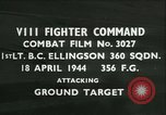 Image of VIII Fighter Command Germany, 1944, second 1 stock footage video 65675021817