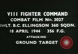 Image of VIII Fighter Command Germany, 1944, second 4 stock footage video 65675021817