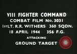 Image of VIII Fighter Command Germany, 1944, second 4 stock footage video 65675021819
