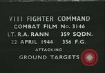 Image of VIII Fighter Command Germany, 1944, second 1 stock footage video 65675021828