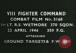 Image of VIII Fighter Command Germany, 1944, second 2 stock footage video 65675021829