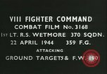 Image of VIII Fighter Command Germany, 1944, second 4 stock footage video 65675021829
