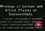 Image of Aircraft graveyard Paris France, 1945, second 1 stock footage video 65675021883