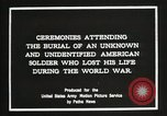 Image of first American Unknown Soldier selected in france France, 1921, second 7 stock footage video 65675021986