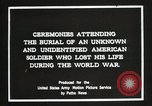 Image of first American Unknown Soldier selected in france France, 1921, second 8 stock footage video 65675021986