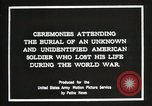 Image of first American Unknown Soldier selected in france France, 1921, second 12 stock footage video 65675021986