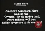Image of American Unknown Soldier honored in France and transported to America France, 1921, second 3 stock footage video 65675021987