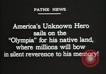 Image of American Unknown Soldier honored in France and transported to America France, 1921, second 6 stock footage video 65675021987