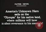 Image of American Unknown Soldier honored in France and transported to America France, 1921, second 10 stock footage video 65675021987