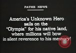 Image of American Unknown Soldier honored in France and transported to America France, 1921, second 12 stock footage video 65675021987