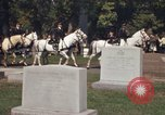 Image of military funeral Arlington Virginia USA, 1979, second 10 stock footage video 65675021996
