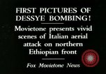 Image of Italian air attack Dessey Ethiopia, 1936, second 1 stock footage video 65675022041