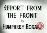Image of Humphrey Bogart European Theater, 1944, second 6 stock footage video 65675022107