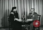 Image of Archbishop Makarios and John Harding Nicosia Cyprus, 1955, second 7 stock footage video 65675022144