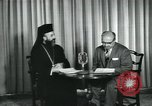 Image of Archbishop Makarios and John Harding Nicosia Cyprus, 1955, second 8 stock footage video 65675022144