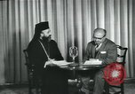 Image of Archbishop Makarios and John Harding Nicosia Cyprus, 1955, second 12 stock footage video 65675022144