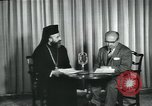 Image of Archbishop Makarios and John Harding Nicosia Cyprus, 1955, second 13 stock footage video 65675022144