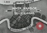 Image of Ship entering the inner harbor canal New Orleans Louisiana USA, 1929, second 11 stock footage video 65675022220