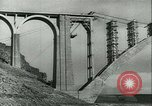 Image of Bridge under construction Spain, 1942, second 2 stock footage video 65675022359