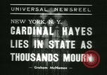 Image of Saint Patrick Cardinal Hayes New York United States USA, 1938, second 6 stock footage video 65675022386