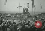Image of Nazi dignitary at harvest festival Oberleutensdorf Czechoslovakia, 1938, second 7 stock footage video 65675022388