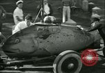 Image of Byron Connett in small submarine Michigan City Indiana USA, 1938, second 6 stock footage video 65675022389