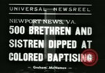 Image of Bishop C M Grace Newport News Virginia USA, 1938, second 2 stock footage video 65675022390