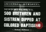 Image of Bishop C M Grace Newport News Virginia USA, 1938, second 7 stock footage video 65675022390