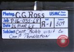 Image of Captain Charles Robb Camp Pendleton California USA, 1968, second 1 stock footage video 65675022392