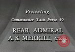 Image of Rear Admiral A S Merrill United States USA, 1943, second 5 stock footage video 65675022406