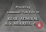 Image of Rear Admiral A S Merrill United States USA, 1943, second 7 stock footage video 65675022406