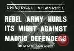 Image of Workers Militiamen and rebel army Madrid Spain, 1936, second 5 stock footage video 65675022413