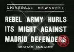 Image of Workers Militiamen and rebel army Madrid Spain, 1936, second 12 stock footage video 65675022413