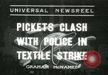 Image of Pickets clash with police Wyomissing Pennsylvania USA, 1936, second 1 stock footage video 65675022415