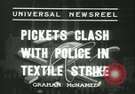Image of Pickets clash with police Wyomissing Pennsylvania USA, 1936, second 2 stock footage video 65675022415