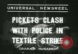 Image of Pickets clash with police Wyomissing Pennsylvania USA, 1936, second 10 stock footage video 65675022415