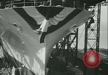Image of USS Enterprise aircraft carrier launch Newport News Virginia USA, 1936, second 12 stock footage video 65675022416