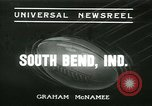 Image of Notre Dame versus Carnegie Tech football South Bend Indiana USA, 1936, second 1 stock footage video 65675022420