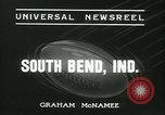 Image of Notre Dame versus Carnegie Tech football South Bend Indiana USA, 1936, second 6 stock footage video 65675022420