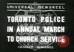 Image of Toronto Police Pipe Band Toronto Ontario Canada, 1936, second 1 stock footage video 65675022421