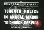 Image of Toronto Police Pipe Band Toronto Ontario Canada, 1936, second 2 stock footage video 65675022421