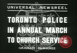 Image of Toronto Police Pipe Band Toronto Ontario Canada, 1936, second 9 stock footage video 65675022421