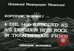 Image of North German Lloyd liner SS Dresden Kopervik Norway, 1934, second 5 stock footage video 65675022422