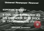 Image of North German Lloyd liner SS Dresden Kopervik Norway, 1934, second 11 stock footage video 65675022422