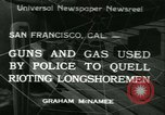 Image of Longshoremen strike San Francisco California USA, 1934, second 1 stock footage video 65675022429