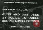 Image of Longshoremen strike San Francisco California USA, 1934, second 7 stock footage video 65675022429