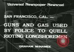 Image of Longshoremen strike San Francisco California USA, 1934, second 11 stock footage video 65675022429