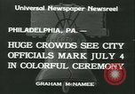 Image of Independence Day ceremony Philadelphia Pennsylvania USA, 1934, second 2 stock footage video 65675022431